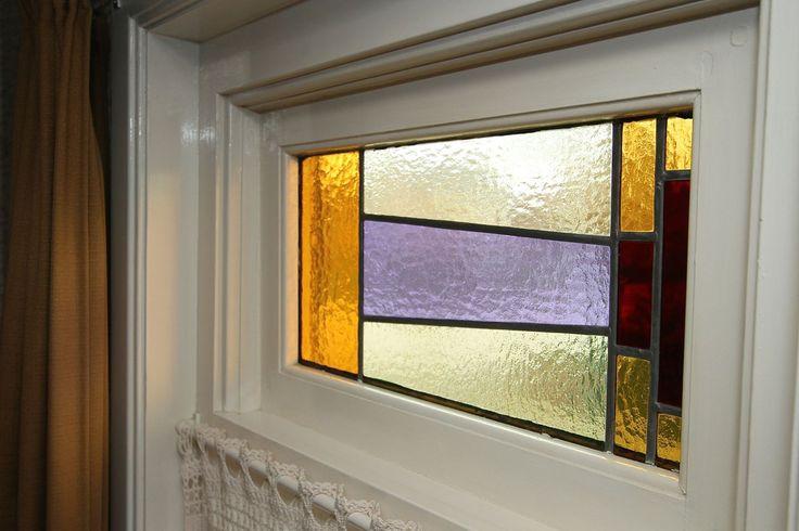 Jaren30woningen.nl | Glas in lood raam van een jaren 30 woning