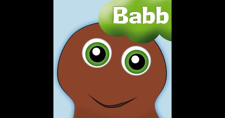 """Babbapp (20 kr) - hät bor åtta figurer- Babba, Bibbi, Bobbo och Dadda, Diddi, Doddo, Faffa och Vovvo - som svarar när du pratar, fnittrar när du kittlar och dansar om du trycker på fötterna. Det finns också två musikvideor med Babblarna - """"Första låten"""" och """"Babblarna Stompalång Tut Pling sång"""" att titta på. #babblarna #äppelhyllan"""