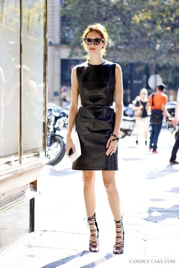 When you look good, you feel good. And nothing makes a woman look better than a little black dress. Feeling brave? Mix it up with leather. It's a tough fabric that can show off a lot of personality. Try this badass look worn by street-style guru Candice Lake.