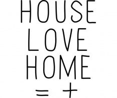 Sticker Love House