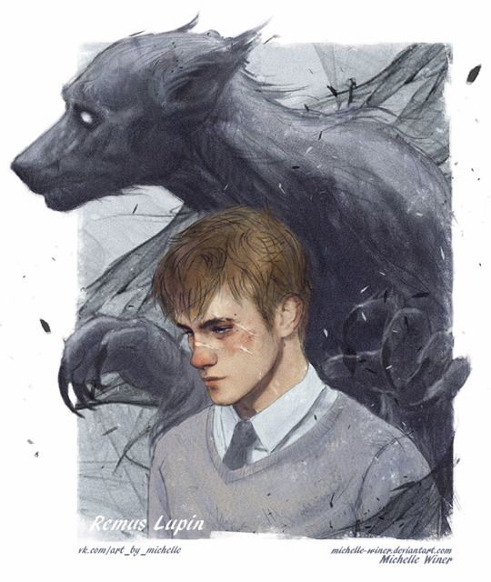 Remus Lupin by Michelle's world of art! I dont like many of the good characters in Harry Potter, but Lupin... he is a really nice character.