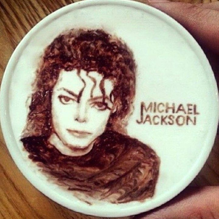 Michael Jackson coffee latte art...