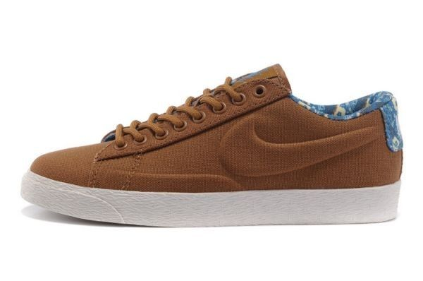 Baskets pour Femme Nike Blazer Low VT Canvas Brown Blanc,Latest trainers arrive - order from us with good price.