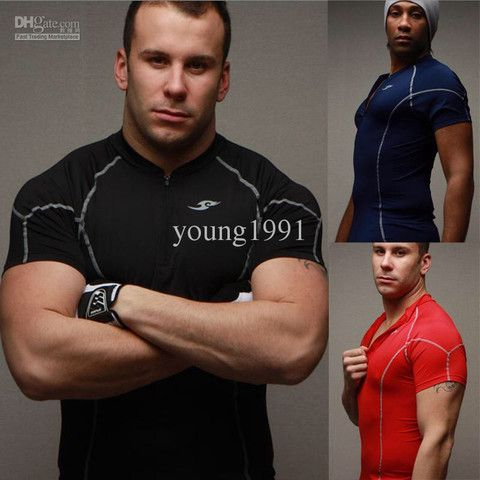 Sport T-shirt Fitness Zipper – teeteecee - fashion in style