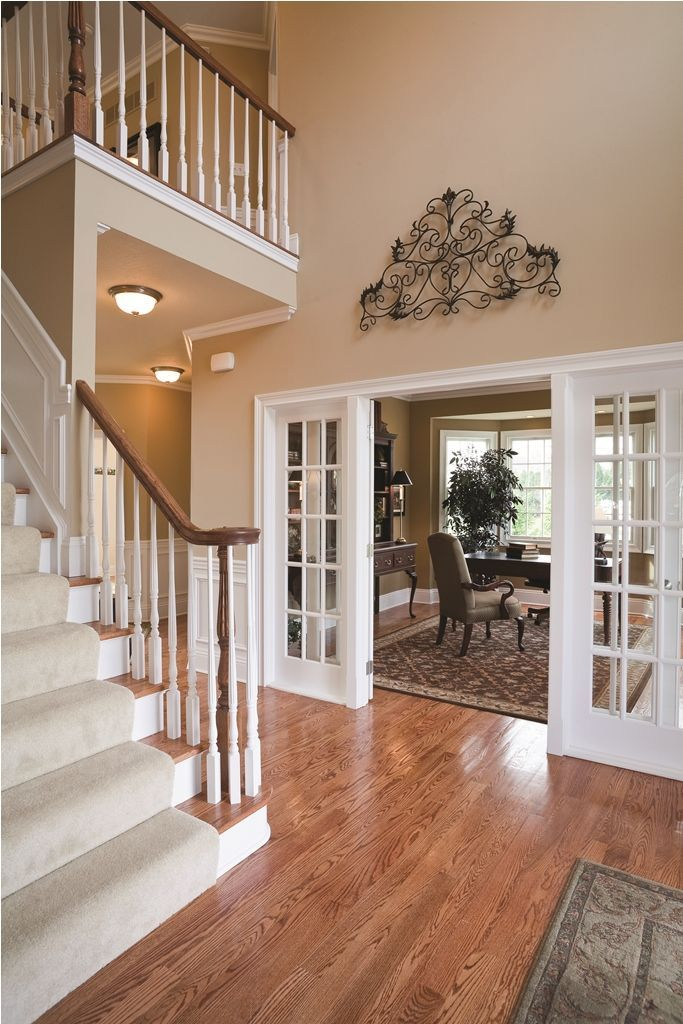 Are you looking to repaint your bedroom walls? Two story entry … | Foyer decorating, Home, Small space