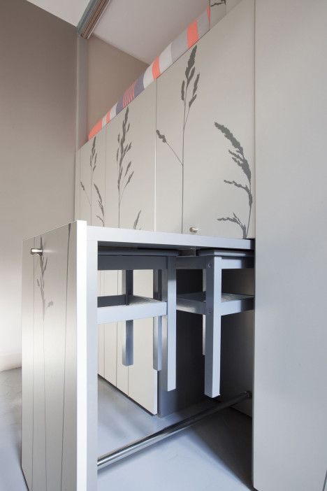 Tiny Maid's Apartment in Paris Transformed with Built-Ins   Designs & Ideas on Dornob