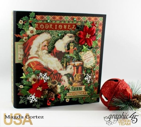 Past Christmas Mini Album, St. Nicholas, By Magda Cortez, Product By Graphic 45, Photo 01 of 14, Project with Tutorial