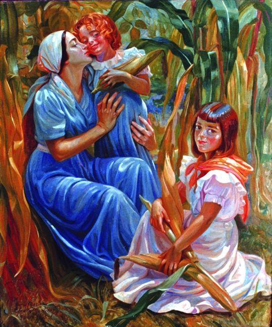 """Efraim Martinez Zambrano. 1898-1956  Colombia. """"The Corn Field"""""""