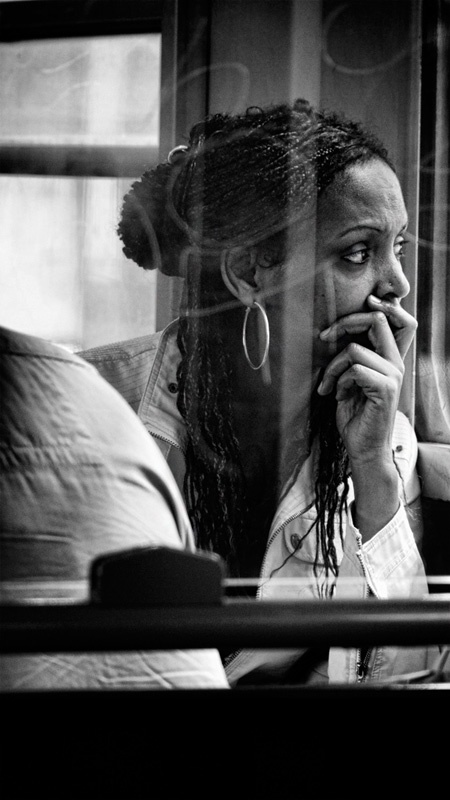 somewhere else?....      (Eolo Perfido, Woman in a bus / Rome - 2011)