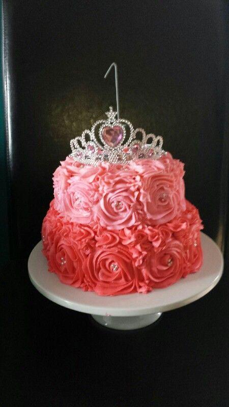 Rose Swirl Princess birthday cake