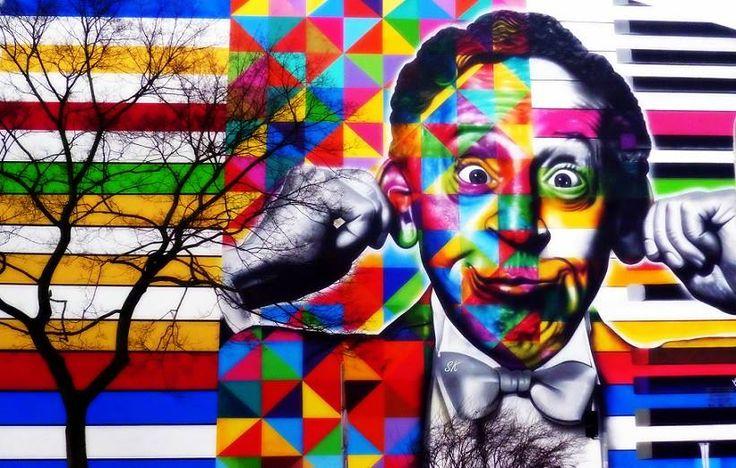 A rubinstein street art lodz poland street art for Audrey hepburn mural los angeles
