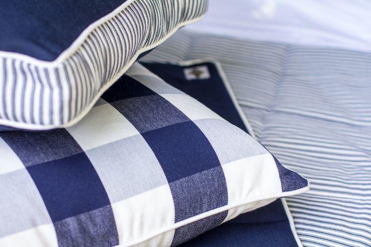 Ancona Cushions and Bed  Create your own Hamptons Look. Runner.http://shop.lamiabellacasa.com.au/ancona-cushion/