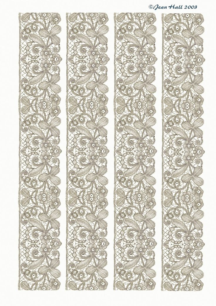 Lace Edgings in a variety of colors and different types of lace