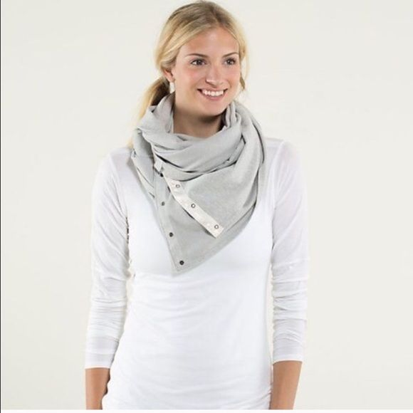 Lululemon vinyasa scarf Never worn Lululemon scarf! It's so soft and an adorable mint and white! It can be worn ten different ways and with so many different outfits! lululemon athletica Accessories Scarves & Wraps