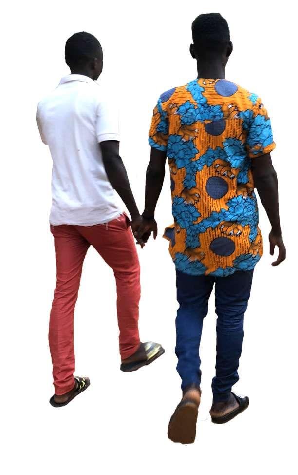2 African Men Walking Away People Cutout People Png African People