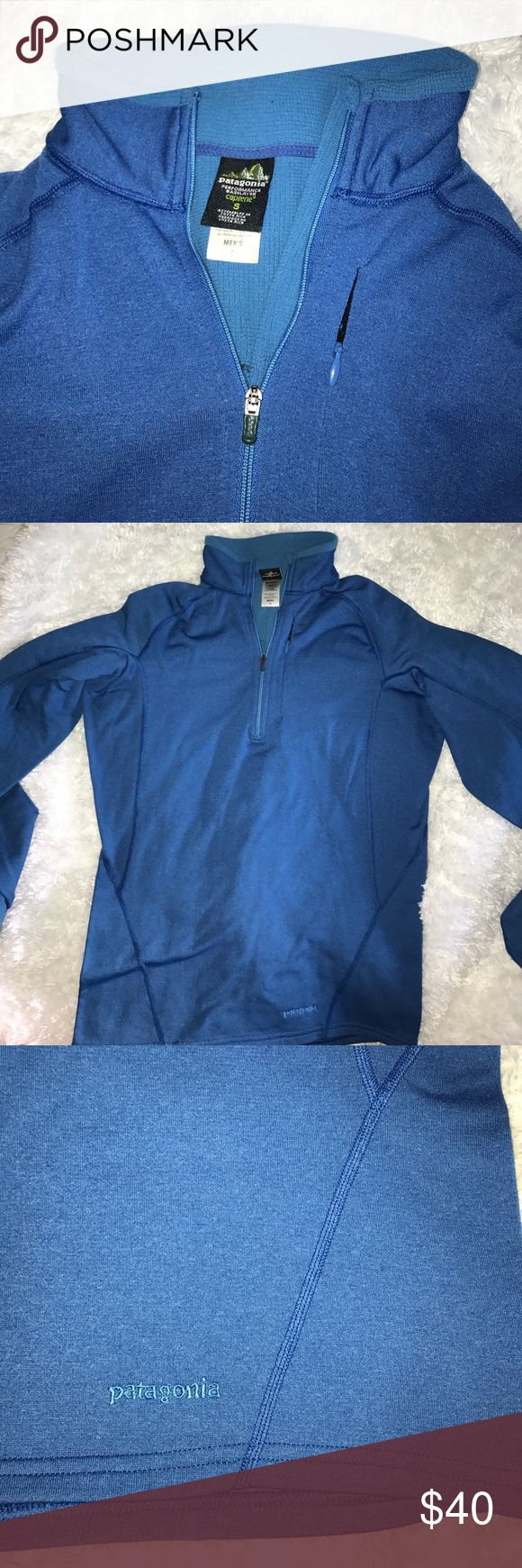 Patagonia Fleece Pullover Thermo Patagonia Fleece Pull Over . In Like new condition absolutely no defects . Light and stretchy material men's size small. Patagonia Sweaters Turtleneck