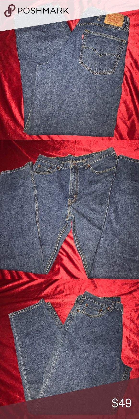 Levi Strauss & Co jeans men's Jeans Worn once and washed,these are men's jeans Levi's Straus 550,W38,L 34....purchased at Carsons and a med blue...the pictures show more and always authentic 💯...silver tone button and bronze color zipper..two front pockets & two back pockets. Levi strauss & co Jeans Relaxed