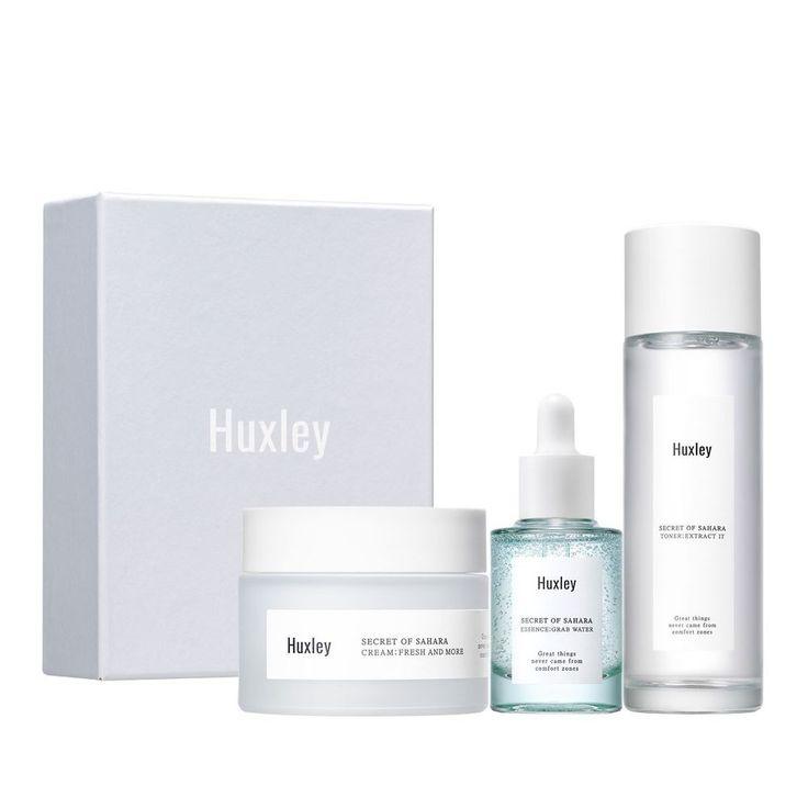 Huxley Secret of Sahara Moisture Trio Skin care Set (Toner / Serum / Cream) #huxleySAHARA PRICKLY PEAR SEED OIL