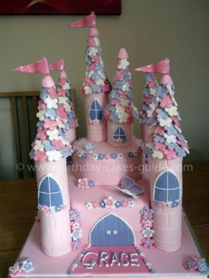 Coolest Princess Castle Cake Wilton cakes Homemade and Birthdays