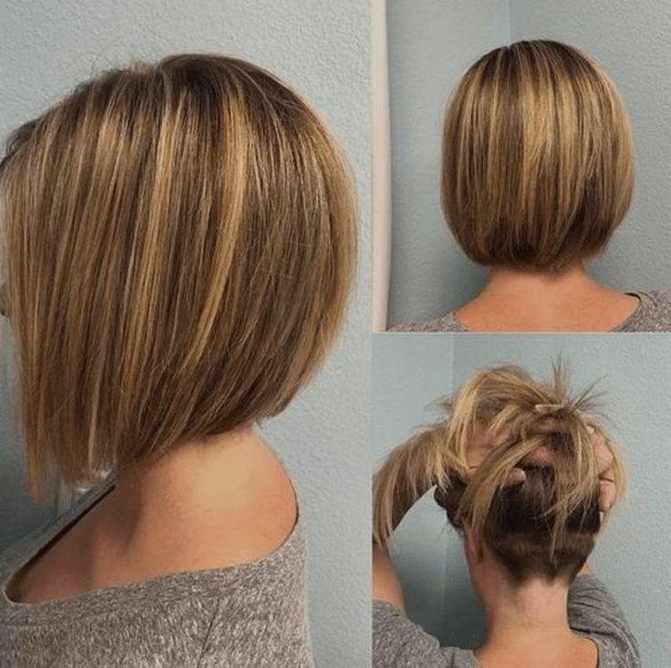 Coupe de cheveux de Bob, est monté à l'arrière de la tête – la coiffure idéale pour l'été