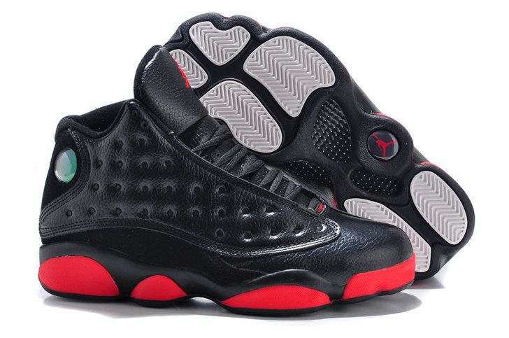 Nike Air Jordan 13 Black Red Blue Eyes Shoe Big Boys Youth Jeunesse Shoes 8dfac2ff7