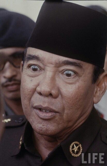 Mr. Soekarno' bulge eye