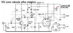 Elektrisches Feld der Elektronik *: Circuit VU Valves EM84 6E2 Magic Eye Valves   – Esquemas eletrônicos