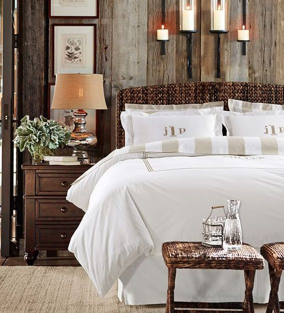 love love love this wicker bed and stools at the foot of the bed - Wicker Bed Frame