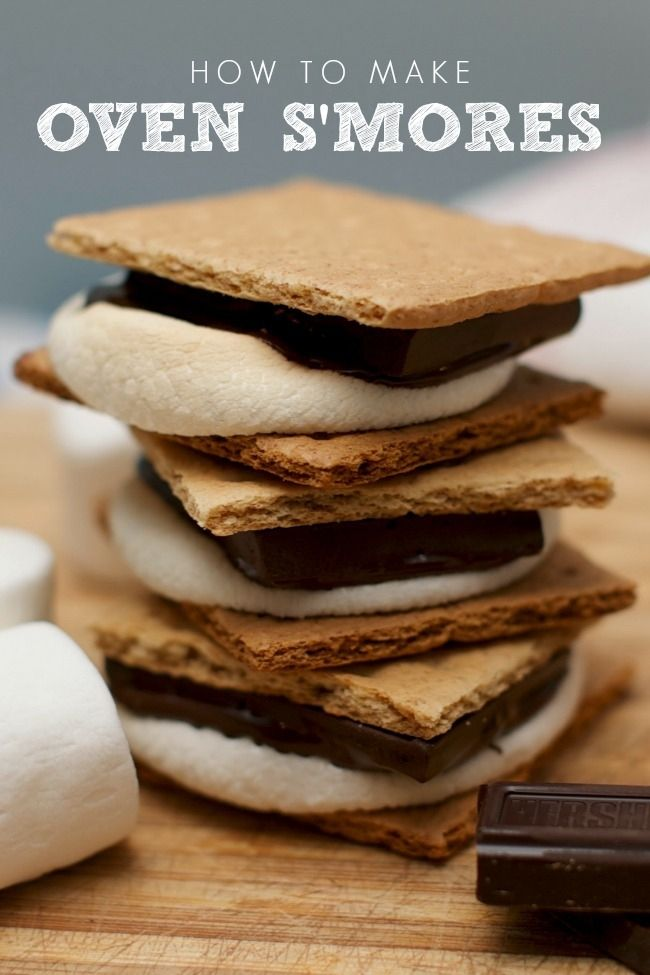 S'Mores Oven Recipe - Cherish this, smore's became my go-to in college!