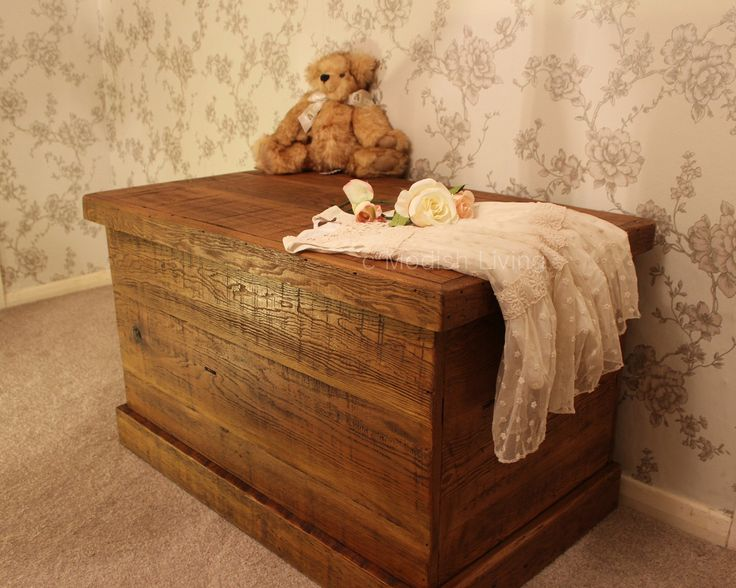 Bremnes Reclaimed Wood Blanket & Toy Box (image 1)