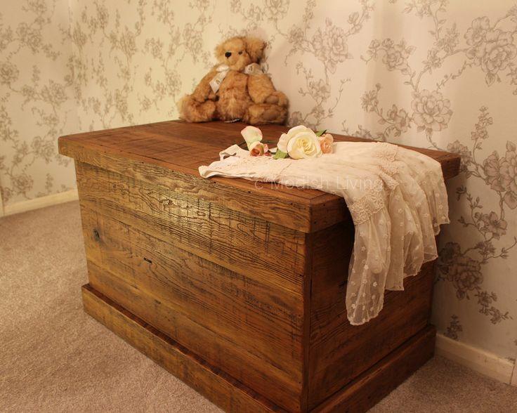 Bremnes Reclaimed Wood Blanket & Toy Box (image 1)