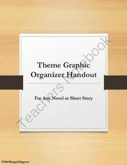 Theme Graphic Organizer Handout for Any Novel or Short Story from ...