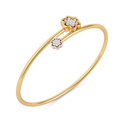 3d5b4d3278 BlueStone Yellow Gold and 0.106ct Diamond Muktha Flexible Bangle ...