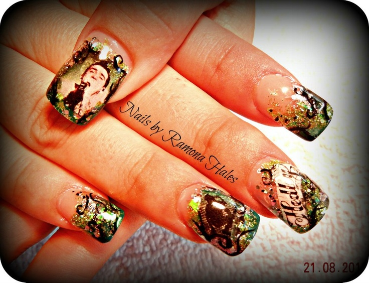 Hedley Nail Design, fully sculpted Acrylic nail.