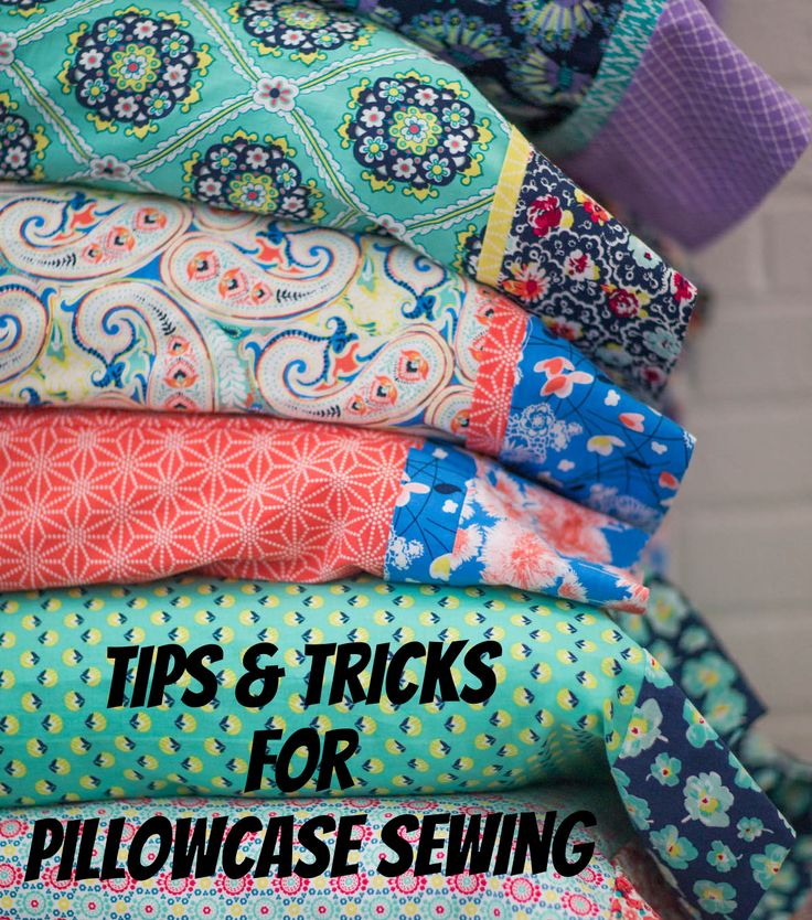 Learn how to make a pillowcase and cuff with these easy step-by-step instructions. | Sewing Hacks | Pillowcase Sewing Tutorial
