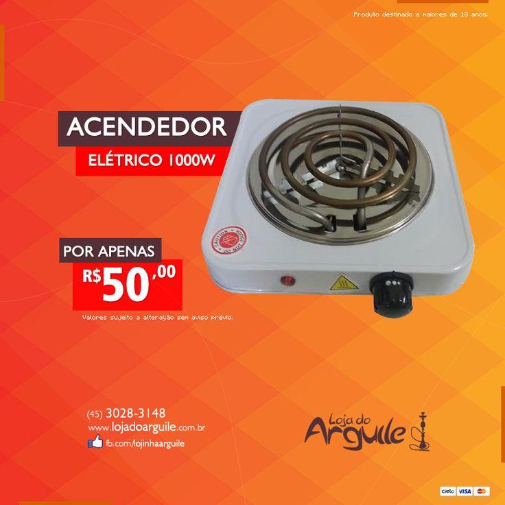 Acendedor Elétrico 1000w De R$ 65,00 / Por R$ 50,00 Em até 12x de R$ 5,02 ou R$ 47,50 via depósito  Compre Online: http://www.lojadoarguile.com.br/acendedor-eletrico-1000w