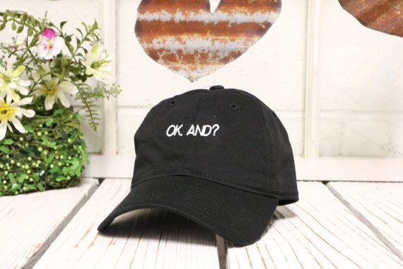 OK AND Baseball Hat Low Profile Embroidered by PrfctoLifestyle