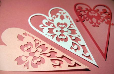Hearts - Paper cut out #cutpaper #papercraft #cutout