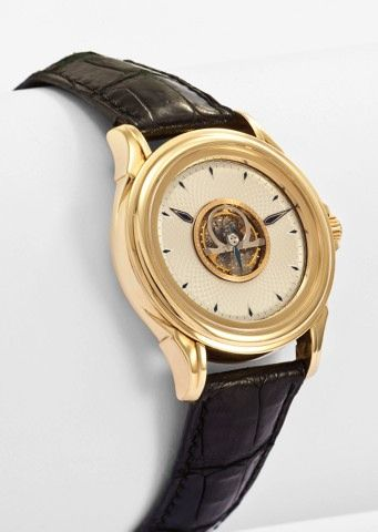 OMEGA DE VILLE, CENTRAL TOURBILLON, NO. 11 YELLOW GOLD
