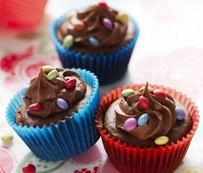 Cupcakes, Dessert Recipes, Cup Cake Recipes - Smartie Chocolate Cupcakes | Nestlé Carnation