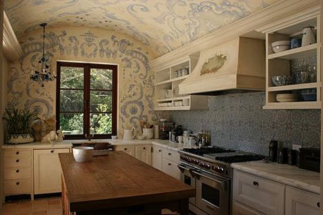 beautiful stencilled kitchen by Erin Martin Design--have been seeing this for years from my clients--great to see who came up with the design!!
