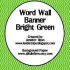 This word wall banner can be printed on regular copy paper or cardstock, then add ribbons and you will have an amazing title for your word wall. Th...