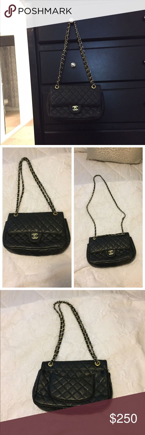 Chanel purse Great condition. Only problem is the clasp on inside (see pics) is a little broken but still works great! Just needs a little screw to fix it! It's been broken for about a year and I've still used the purse with no problem at all! Gold has rubbed off a little bit on the strap and looks a little bit silver now. This is such a great purse and still works and looks great!! Price reflects it all so please don't ask the obvious! **already wrapped up and ready to ship today!** Bags…