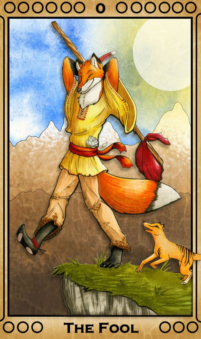 Fool From The Universal Waite Tarot: 70 Best Tarot - 0 - The Fool Images On Pinterest