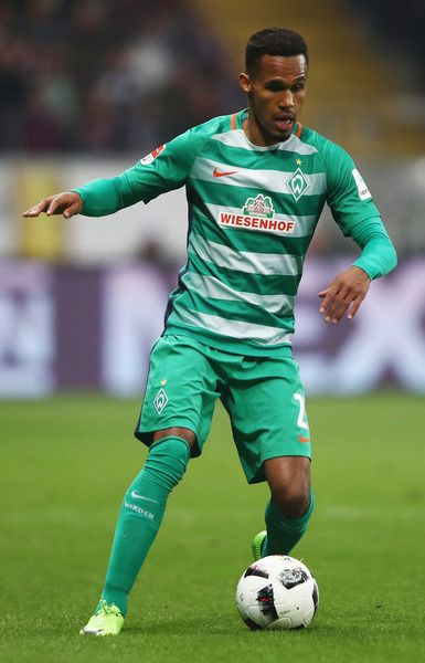 Theodor Gebre Selassie of Bremen controles the ball during the Bundesliga match between Eintracht Frankfurt and Werder Bremen at Commerzbank-Arena on April 7, 2017 in Frankfurt am Main, Germany.
