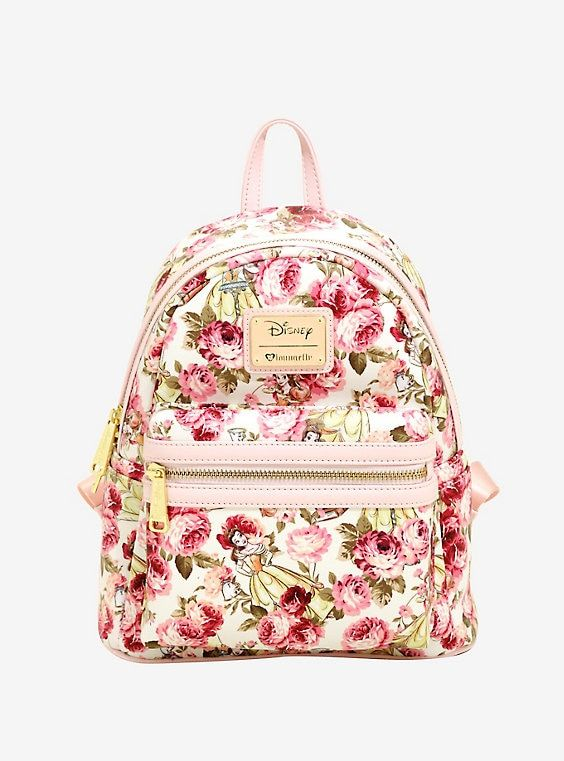 Loungefly Disney Beauty And The Beast Floral Mini Backpack in 2019 ... 5c3fefe29e5a4