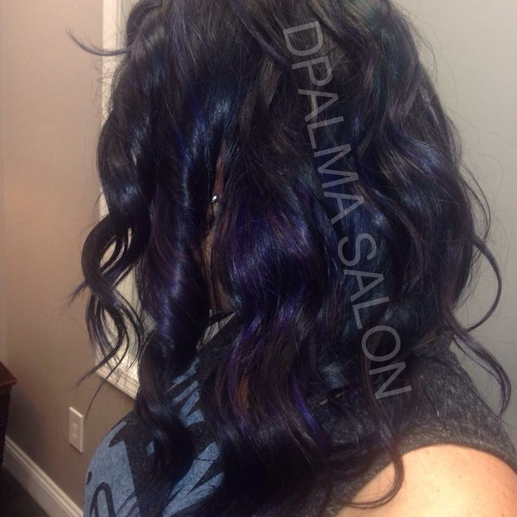 Blue and purple hair @ DPALMA SALON