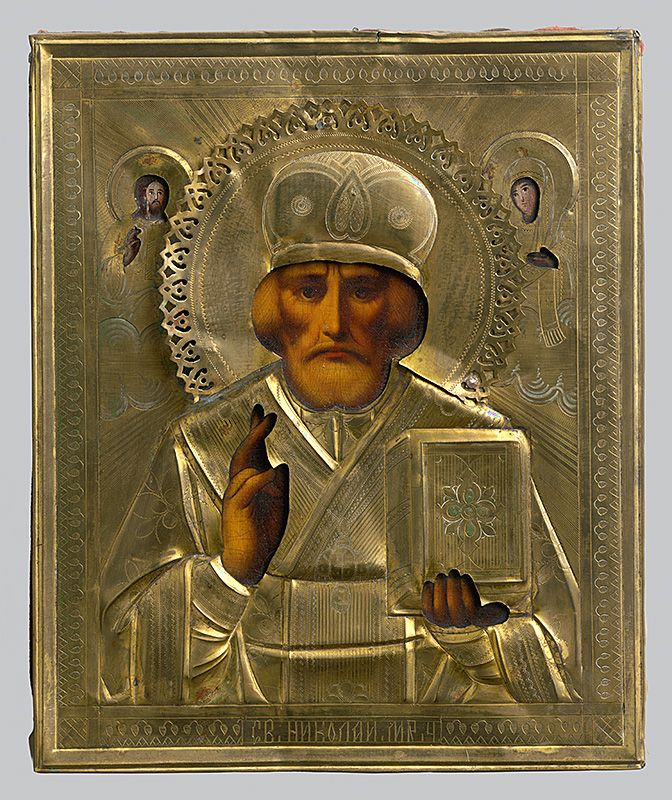 Saint Nicholas, Russian Iconography, 1800/1900. Slovak National Gallery, CC BY