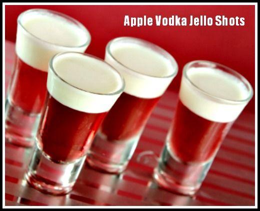 Apple Vodka Jello Shots. http://www.ifood.tv/recipe/jello_shot_2
