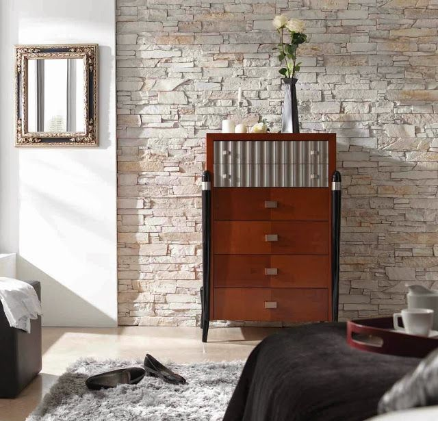 Brick Slate Effect Faux Stones Wall Coverings Panels Contemporary Interior